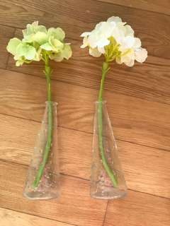 IKEA vases with flowers
