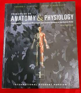 Principles of Anatomy and Physiology 13th edition by Tortora vol 1 and 2 (international student version)