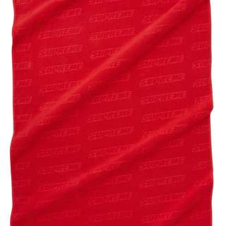 Supreme Debossed Logo Beach Towel Red 全新未開封