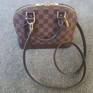 Louis Vuitton Alma BB in Damier Ebene Canvas
