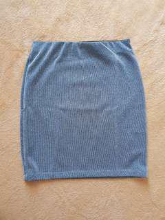 Silver Skirt Pull &bear