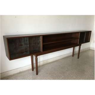 Vintage Mid-Century 8 ft Long Wooden Sideboard