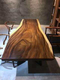 Industrial dinner table dinnerfurniture live edge natural