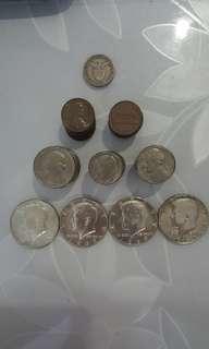舊美金純銀幣 或銅幣
