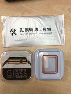 Apple Watch screen protector - 38mm Gold