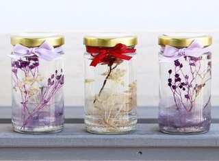 Preserved flower jars