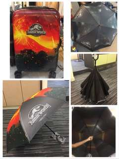 Jurassic World Luggage + Reversible Umbrella