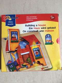 Chelona Building a House Story Puzzle