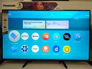 "LED Panasonic 50"" Smart TV Promo Free 1X Angsuran Tanpa Kartu Kredit"