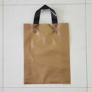 Gold Plastic Carrier bag