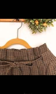 🚚 轉賣全新格子綁帶裙