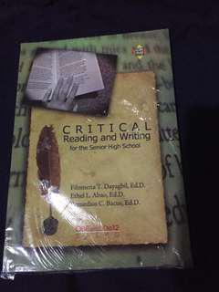 Critical Reading and Writing for the Senior High School (Textbook)