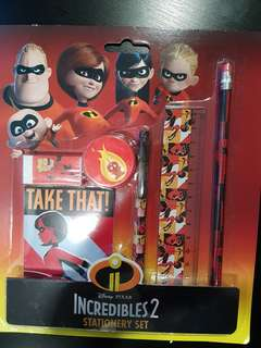 Brand New Incredibles 2 Stationary Set