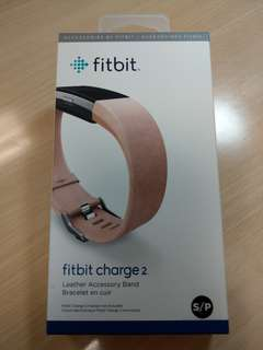fitbit charge 2粉色皮革錶帶S
