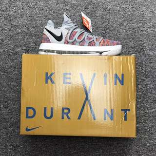 死神杜蘭特10代籃球鞋KD KD與耐克合作十週年杜蘭特最新一代戰靴