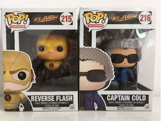 The Flash Series Funko Pop, Captain Cold and Reverse Flash