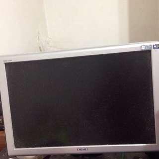 奇美電腦螢幕液晶顯示器機型=長45公分,寬30公分,對角線50公分(約20吋