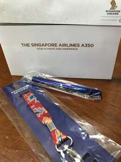 Singapore Airlines Red batik lanyard