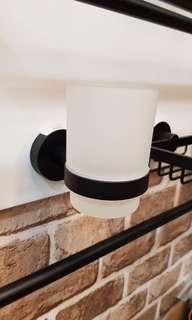 [Matt black] Rubine tumbler holder with glass tumbler