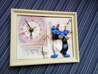 Clock & Clowns Picture Frame