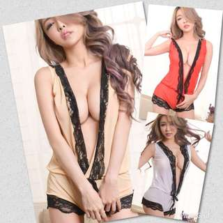 New Arrival Polyester Lace Bikini One Piece Lingerie Nightwear 3 Colours