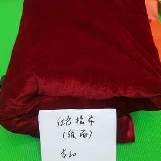 大幅紅色 布料,可婚禮 鋪枱