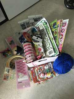 Assorted Stickers/ Ribbons / Handicraft Supplies / Good Quality/ Clearance Sale/ Daiso /Spotlight