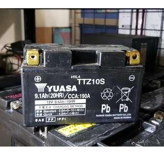 (二手中古電池) YUASA TTZ10S-二手機車電池 10號 噴射125機車專用 數值漂亮,品項優