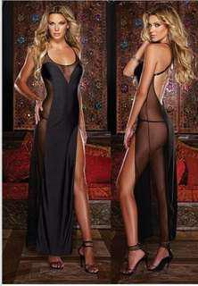 Secret Black Transparent Long Nightwear Polyester New Arrival