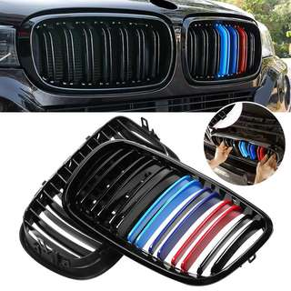 Glossy black M-Color Front Grill for 2007-2013 BMW X5, X6, E70 and E71