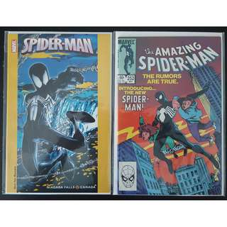 "Amazing Spider-Man #252,#252 Niagara Falls Exclusive Variant (1984, 1st Series) Set of 2, 1ST Appearance of Spider-Man's Black Alien Costume! Super Hot!  ""One to Read,One to Keep"" Series."