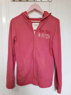Abercrombie & Fitch Pink Athletic Hoodie