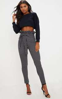 BNWT PLT skinny paper bag trousers