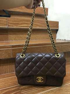 Chanel Flap brown bag