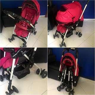 Capella Charmant Stroller Pram in pink S226