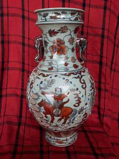 Ming era vase 36cm high with historical human characters