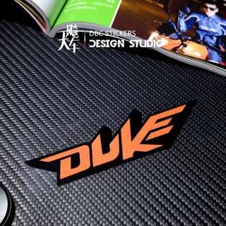 KTM Duke Sticker orange reflective waterproof water resistant coverset fairings helmet box