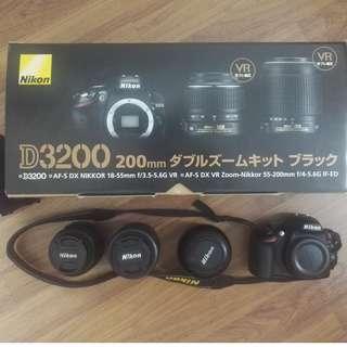 Nikon D3200 - 18-55mm & 55-200mm set ( 2 lens)