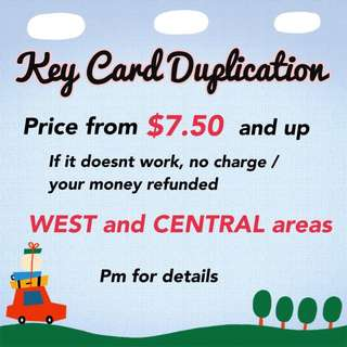 Keycard access card duplication/ copying