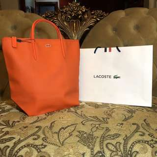 Lacoste Vertical Tote Bag with 10cm drop
