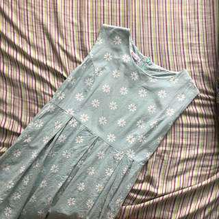 Mint green daisy dress