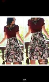 Elegant Terno Floral Dress Women Dress