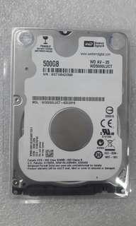 NEW WD SATA 2.5 INTERNAL HARDDISK 500GB