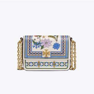 Tory Burch Kira Floral Double Strap MiniShoulder Bag
