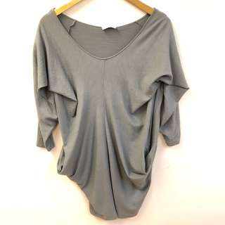 長身衫 Christian Wijnants gray shoulder off top size L