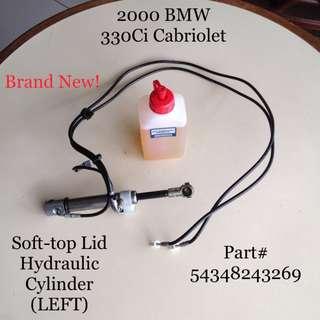Soft-top Lid Hydraulic Cylinder @ 2000 BMW 330Ci Cabriolet