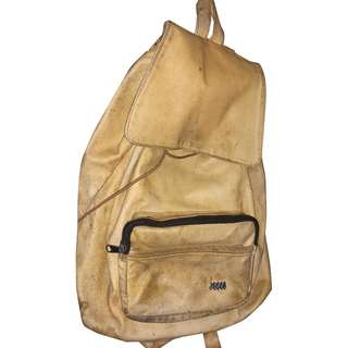 JOPEJ Leather Backpack