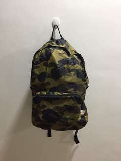 Bape Camo Pocketable Backpack