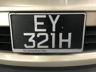Expression of Interest for number plate - EY321H