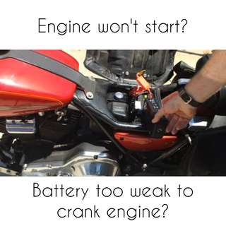 Services: Jumpstart/Flat tire/Battery Charging (Motorcycle)